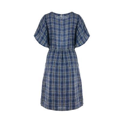 ribbon point check dress